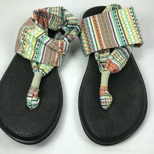 Sanuk boho slide flip flops sandal